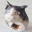 DECOvienya(デコヴィーニャ) 手作りアクセサリー ネコのリング シルバー [DE-112] ハンドメイドアクセサリー 指輪 個性的 かわいい ..