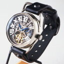 KINO(キノ) 手作り腕時計 自動巻き 裏スケルトン クラ...