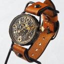 KINO(キノ) 手作り腕時計 手巻き機械式 裏スケルトン ...