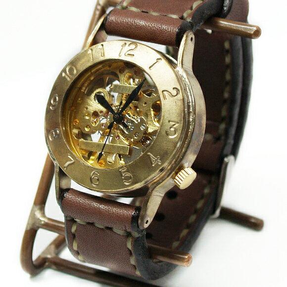 渡辺工房 手作り腕時計 手巻き式 裏スケルトン ...の商品画像