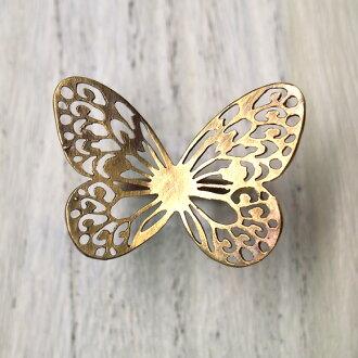 配套作家,佐佐木瞳手工配件,手工制作的首饰,戒指蝴蝶蝴蝶昆虫古朴