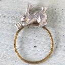 ショッピングhitomi sasakihitomi(ササキヒトミ) シルバーのうさぎのリング [No-080-S] アクセサリー作家・佐々木ひとみ 手作りアクセサリー・ハンドメイドアクセサリー・指輪 アンティーク調 うさぎ 動物 かわいい シンプル 日本製 国産
