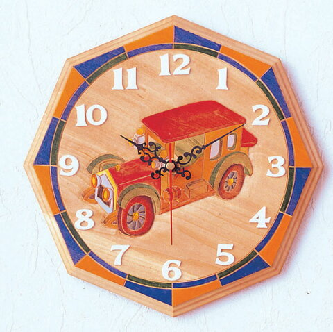 ワッツタイム? 八角型 時計 手作りキット / 夏休み 工作キット 自由工作 自由研究 手作り 工作 低学年 高学年 小学校 時計工作 木彫