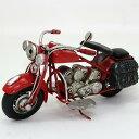 ブリキのおもちゃ|オールドバイク RED|ヴィンテージバイク ブリキ おもちゃ ブリキバイク アンティーク レトロ バイク ハーレータイプ