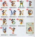 ディズニー新シリーズワッペン【アルファベットとミッキー&ミニー】アイロン接着M便[1/20]