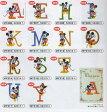 ショッピングミニー ディズニー新シリーズワッペン【アルファベットとミッキー&ミニー】アイロン接着