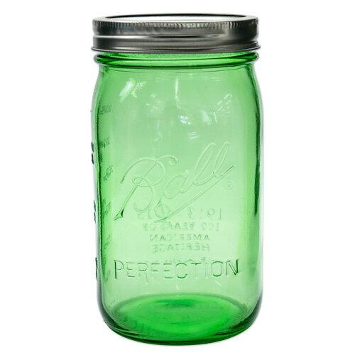 ボールメイソンジャー ワイドマウス ヘリテージコレクション グリーン 940ml / Ball Mason Jar Heritage Collection Green Wide Mouth 32oz