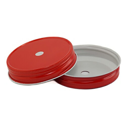 [SUPER PRICE] Red Regular Mouth Complete Lids With 9mm Hole レギュラーマウス用 蓋9mm穴付き レッド 1個