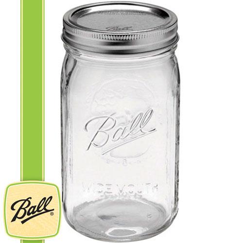 ボール メイソンジャー正規品 ワイドマウス 32oz (940ml) Wide Mouth Ball Mason Jar
