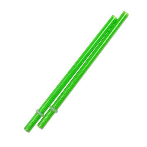 [Outlet SALE]160mm プラスチックストロー グリーン 2本入 / Plastic Straw Green 2pcs