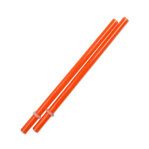 [Outlet SALE]160mm プラスチックストロー オレンジ 2本入 / Plastic Straw Orange 2pcs