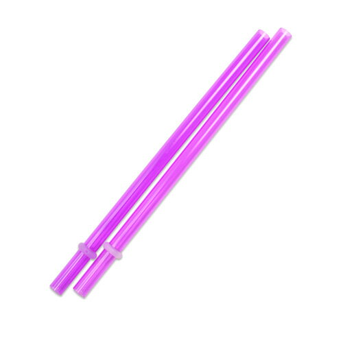 [Outlet SALE]160mm プラスチックストロー パープル 2本入 / Plastic Straw Purple 2pcs