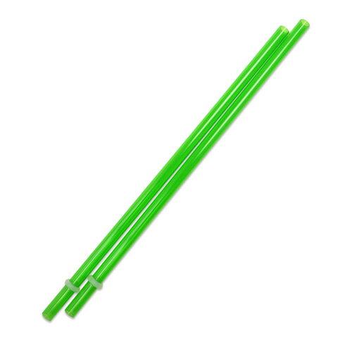 [Outlet SALE]230mm プラスチックストロー グリーン 2本入 / Plastic Straw Green 2pcs
