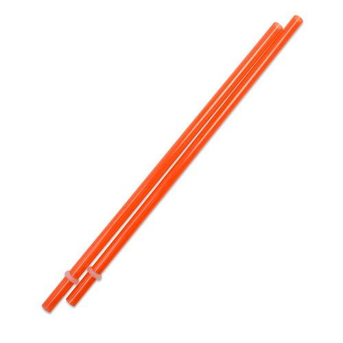 [Outlet SALE]230mm プラスチックストロー オレンジ 2本入 / Plastic Straw Orange 2pcs