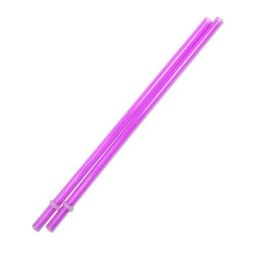 [Outlet SALE]230mm プラスチックストロー パープル 2本入 / Plastic Straw Purple 2pcs