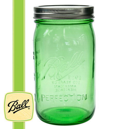 [Outlet SALE] ボールメイソンジャー ワイドマウス ヘリテージコレクション グリーン 940ml / Ball Mason Jar Heritage Collection Green Wide Mouth 32oz