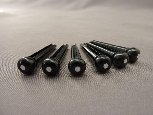 プラスチックブリッジピン(黒)白ドット 5.2mm径 5度