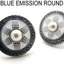 BASIC5000シリーズ BLUE EMISSHION ROUND ブルーエミッションラウンドカフス【カフスボタン カフリンクス】【送料無料】