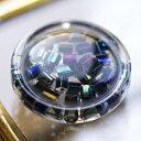 ポリエステルボタン 釦の中にテグスで編んだビーズを入れたボタン 釦P-853 15mm