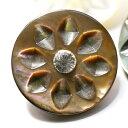 天然貝にラインストーンをあしらった貝ボタン 釦 P-474 15mm 10P03Dec16