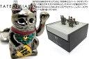 【2016年春夏モデル】TATEOSSIAN タテオシアン MECHANIMALS FORTUNE CAT GUNMETAL CUFFLINKS 招き猫メカニマ...
