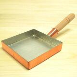 銅 玉子焼き器 関東型(正方形) 21cm