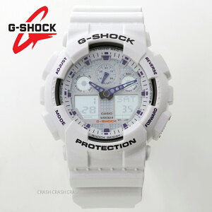カシオ G-SHOCK g-shock ジーショック メンズ 200M防水 腕時計 ホワイト/ブルー GA-100A-7A ga100a-7a[あす楽] [送料無料/一部地域除く]