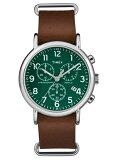 【ポイント2倍】TIMEX タイメックス 腕時計TW2P97400 TIMEXウィークエンダークロノグラフ革ベルト メンズ 時計【あす楽】【ラッピング/送料無料】