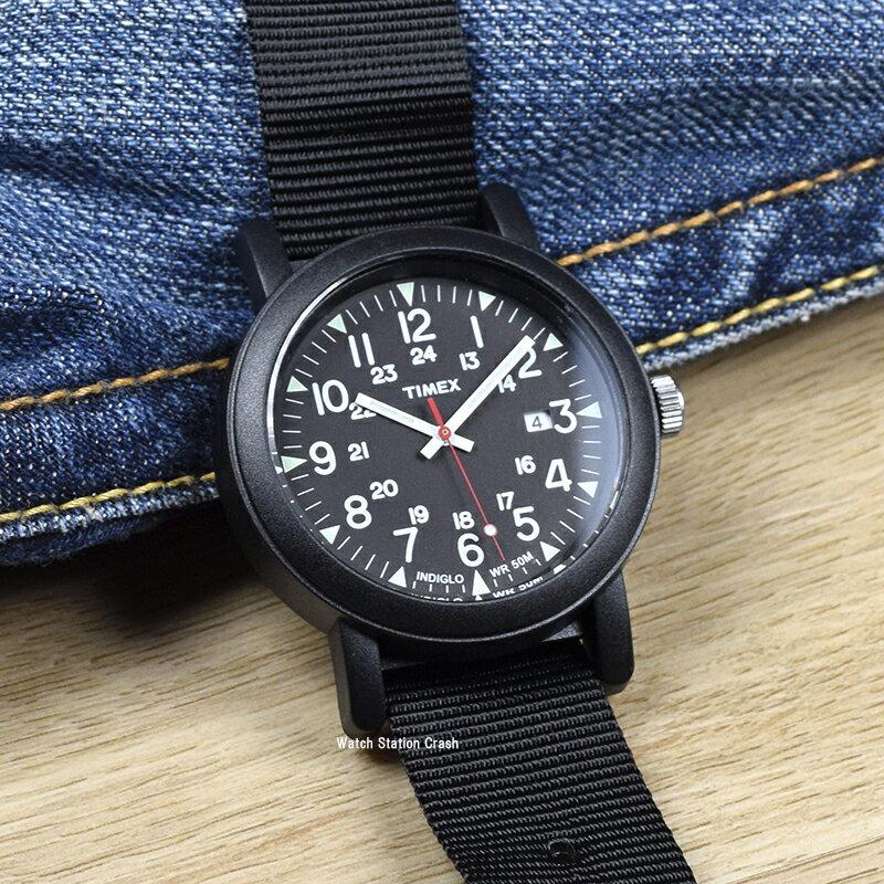 [あす楽]TIMEX タイメックス 腕時計キャンパーオーバーサイズ オールブラック メンズ 腕時計 T2N364[送料無料/一部地域除く]