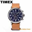 TIMEX 腕時計 TW2P62300 メンズ レディース クロノグラフ タイメックス ウィークエンダー 革ベルト ネイビー ブラウン おしゃれ カジュ..