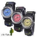 楽天Watch Station CRASH【キッズ こども用 腕時計】CACTUS カクタスCAC45M03(ブルー)CAC45M10(イエロー)CAC45M07(レッド)全3色100m防水 マジックテープベルト[あす楽] 送料無料(一部地域除く)