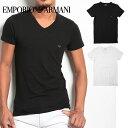 エンポリオ アルマーニ Tシャツ メンズ 半袖 Vネック STRETCH COTTON ブランド ファッション トップス クリスマス 誕生日プレゼント 彼氏 父 ギフト