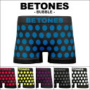 BETONES/ビトーンズ ボクサーパンツ メンズ 下着 BUBBLE ドット 水玉 フリーサイズ バ