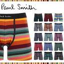 34%OFF★Paul Smith/ポールスミス ロングボクサーパンツ メンズ 下着 長め おしゃれ PS PRINTED かっこいい 綿 ボーダー ブランド 男性 プチギフト 誕生日プレゼント 父 息子 ギフト 記念日 S3H2