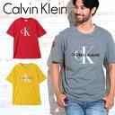 カルバンクライン Tシャツ メンズ Calvin Klein CK LOGO 半袖 クルーネック ロゴ カルバンクラインジーンズ トップス カットソー ブランド プチギフト 誕生日プレゼント 彼氏 父 男性 ギフト 記念日 おしゃれ