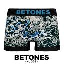 BETONES/ビトーンズ ボクサーパンツ メンズ 下着 NUDGE スネーク オシャレ かわいい 立体成型 フリーサイズ シームレス 機能性 バレン..