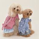 ギンガム フリル ブラウスXS,S,M,LサイズCRAZYBOO(クレイジーブー)【ドッグウェア パーカ 犬の服 ペット服 犬の洋服 ペットウェア】