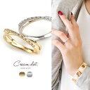 リング 指輪 ダブル 粒粒 シンプル ゴールド 金 レディース シンプル デザイン 重ね着け 人気 流行 クロス