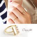 リング 重ね着け 指輪 ジルコニア パールフォーク シルバー 銀 ゴールド 金 細身 華奢 結婚式 大人可愛い レディース プレゼント