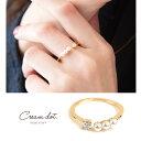 リング フォークリング 指輪 ビジュー パール 金 ゴールド デイリー 結婚式 カジュアル 小物 ファッション雑貨 ギフト 大人 レディース 女性 アクセサリー