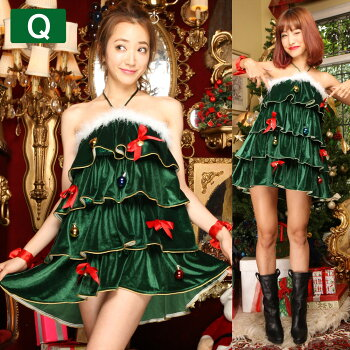 サンタコスプレ激安サンタコスクリスマスサンタクロースコスチューム衣装大きいサイズ長袖半袖コスセクシーパーティトナカイツリーサンタコスプレサンタコスチュームパンツケープポンチョフード赤レッド黒ブラック緑2016レディースファッション
