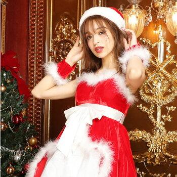 サンタコスプレサンタコス激安クリスマスサンタクロースコスチュームセクシーパーティ大きいサイズワンピースワンピドレスコス衣装サンタコスプレセクシーサンタサンタコスチュームアームウォーマー赤レッドピンク白ホワイトレディースファッション