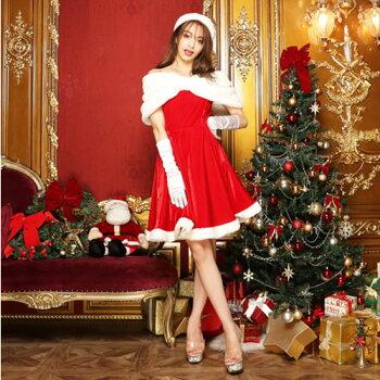 サンタコスプレサンタコス激安クリスマスサンタクロースコスチュームセクシーパーティ大きいサイズワンピースワンピドレスコス衣装サンタコスプレセクシーサンタサンタコスチュームクリスマスコスプレ帽子手袋赤レッド2016レディースファッション冬
