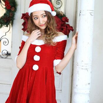 サンタコスプレサンタコスクリスマスコスチューム激安大きいサイズ衣装長袖半袖コスセクシーサンタクロースパーティワンピースサンタコスプレクリスマスコスプレサンタコスチューム赤黒ブラックブラックサンタサンタ帽子帽子レディースファッション