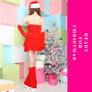 サンタコスプレ激安サンタコスクリスマスコスチューム大きいサイズセクシーサンタクロースパーティ衣装レッグウォーマーアームウォーマーサンタコスプレサンタコスチュームセクシーサンタミニスカサンタ赤レッド2016レディースレディースファッション