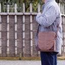 柿渋染め 日本製 ショルダーバッグ メンズ 斜めがけ 京都 帆布バッグ(鞄)「二条城」