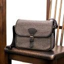 墨no布《墨染め》日本製 ショルダーバッグ 斜めがけ メンズ「リバー」鞄 帆布 革 京都バッグ