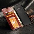 【送料無料 メール便発送】 Samsung Galaxy S6 edge SC-04G SCV31 専用レザーケース 手帳型 ストラップ付け 全6色 【Galaxy S6 edge ケース Case カバー Galaxy S6 edge アクセサリー Cover 保護】