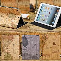 iPadAirスマートケーススリープ機能付け地図柄3