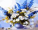 数字塗り絵 油絵風 コスモスとラベンダー 名画 【油絵】アクリル絵の具 塗り絵 大人 油絵 楓景 油絵セット キャンバス 壁デコ 塗り絵セット 壁飾り ギフト 手作り アートパネル 絵 絵画 敬老の日 趣味 プレゼント